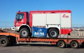 Aktis Handle 37 Fire Trucks from Italy to Greece