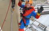 UFO President Abseils 100m to raise funds for The Dream Trust