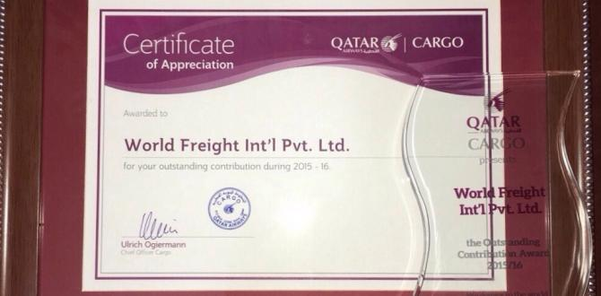 World Freight International Awarded by Qatar Airways Cargo for Outstanding Contribution