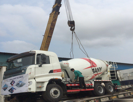 YSL Cambodia with FCL Transit Shipment of 10 Mixer Trucks