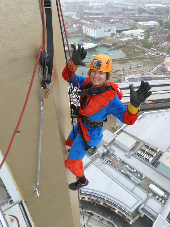 UFO President Raises over $5000 for The Dream Trust by Abseiling 100m