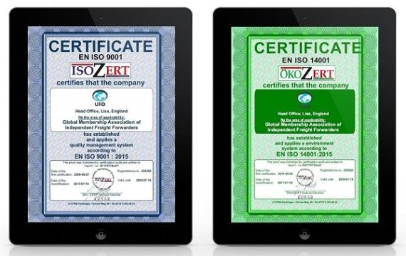 Renewal of our ISO 9001 and ISO 14001 Certification