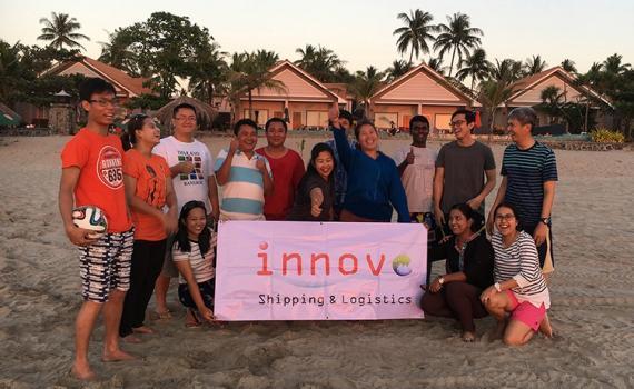Innovo Myanmar Enjoy Company Trip to Ngwe Saung Beach