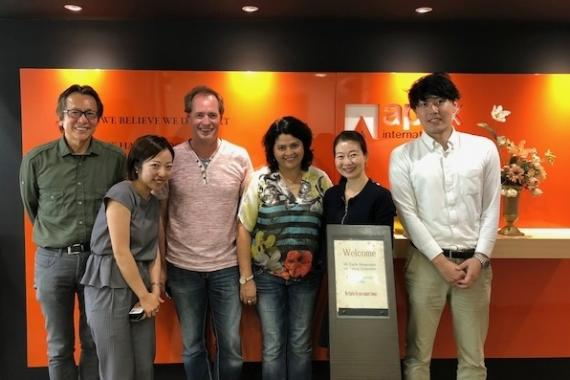 Cronos Logistica from Chile Visit Apex International in Japan
